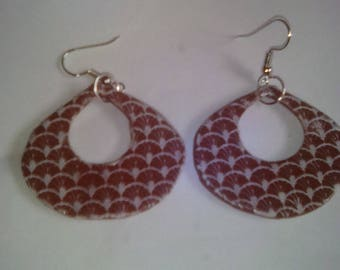 caramel colored polymer clay earrings