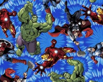 Marvels Avengers United Fabric from Springs Creative