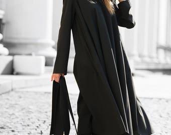 Black Maxi dress, Plus size clothing, Plus size kaftan,Loose fit dress, Black Dress, Kaftan maxi dress, Women Kaftan Dress by EUG - DR0091CW