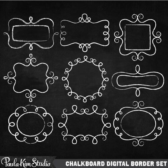 Amazing Chalk Frame Clipart Chalk Borders Instant Digital Download