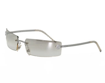 Chanel reflective transparent glasses