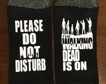 Walking Dead, All Out War, Socks, Please Do Not Disturb, The Walking Dead Is On, TWD Walking Dead gift
