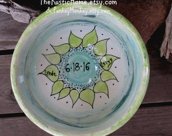 Custom adoption family xlarge serving bowl mixing bowl wedding bowl gift personalized mixing bowl with names fired pottery 9th anniversary