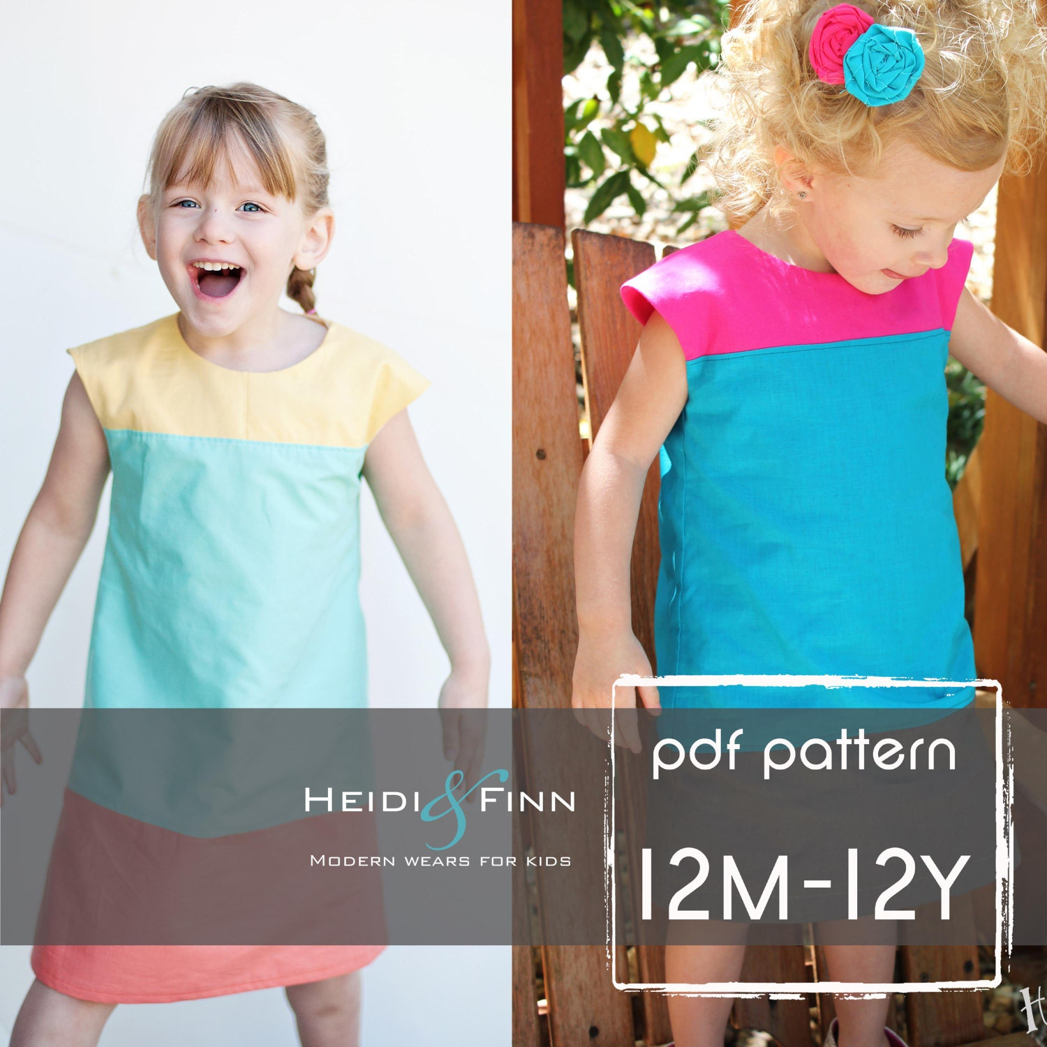 Colorblock dress pattern and tutorial 12m 12y easy sew fully zoom jeuxipadfo Choice Image