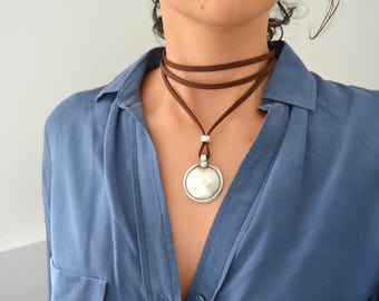 pi neri nerinecklace products marine pip necklace soko wrap layer