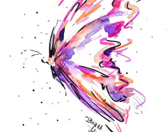 PRINT / Butterfly Print / Pink print / Whimsical print / Pink purple print / grad gift / graduation gift / bridal gift / gift for girlfriend