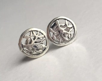 925 Sterling Silver Stud Earrings, Nature