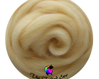 Needle Felting Wool Roving / ES16 Corn Silk Carded Wool Sliver