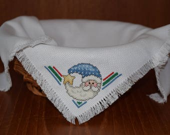 Cross Stitched Bread Cloth