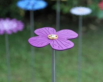 Pollination Flower Stem - Aubretia