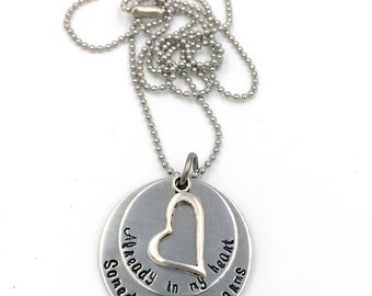 READY TO SHIP - Already in My Heart, Someday in My Arms Infertility Silver Necklace