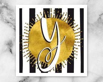 ABC Black/White Stripes-y-poster, print, art print, typography art, Calligraphy, alphabet, initials, letter, letter, letters
