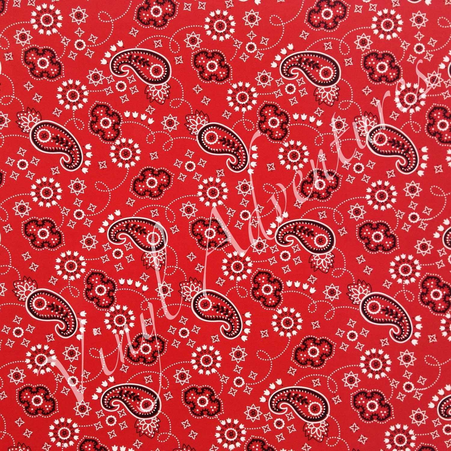 Bandana Heat Transfer Vinyl Red Pattern Htv Paisley