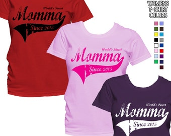 World's Finest Momma - Personalized with Year - Classic Fit Ladies' T-Shirt