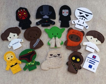 Star Wars Finger Puppets, Interactive plat, imagination, inspired play, Party Favor - Ready to Ship