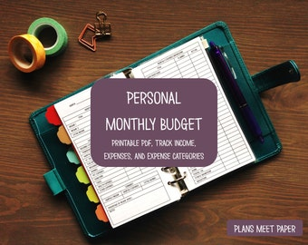 PRINTABLE Personal Monthly Budget