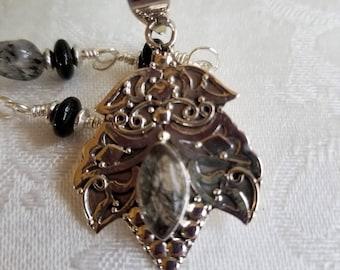Quartz at It's Best                   Tourmalinated Quartz Necklace