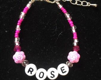 Custom Child GIRL Bracelet Keepsake 3-6yrs