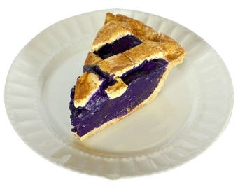 Concord Grape Prim Fake Pie Slice - Fake Food Prop - Kitchen Decor