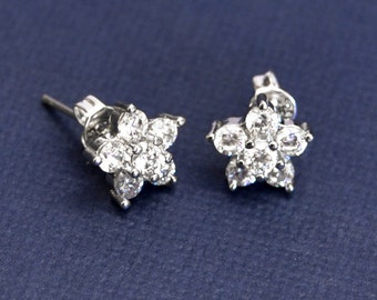 Rhinestone Stud Earrings, Post Earrings, Crystal Stud Earrings, Wedding Earrings, Bridal Earrings, Bridesmaid Gifts