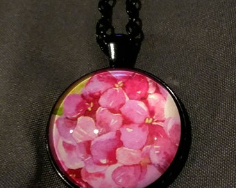 Pink Flowers Necklace