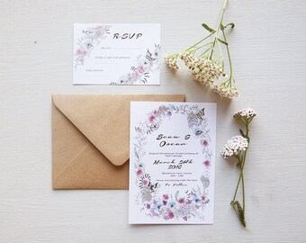 Midsummer Wedding Invitation Suite