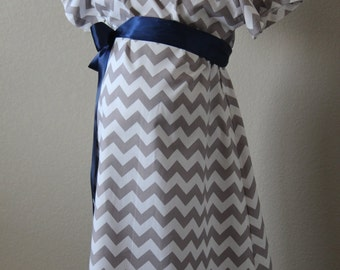 Maternity Hospital Gown, Chevron Delivery Gown, Maternity Hospital Gowns,Grey Chevron Labor And Delivery Gown,Delivery Gown-Delivery Gown