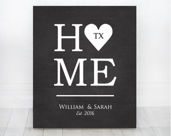 First Home Gift, New Home Sign, Wedding Gift, Housewarming Gift, New Home Decor, New Home Gifts, Personalized Sign, First Home, First House