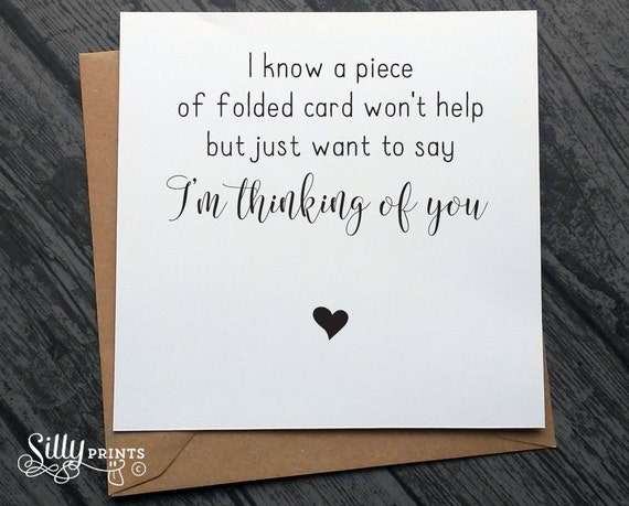 Thinking Of You Cards Sympathy Card Cancer Chemo Loss