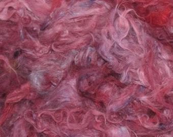 French Angora, hand clipped, 1 ounce, Boysenberry