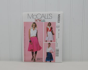 McCall's M5053 Fun and Flirty Skirt Sewing Pattern (c. 2006) Misses' And Petite Sizes 6-12, Flared Skirt, Spring, Summer Skirt, Knee Length