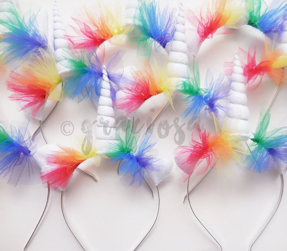 Rainbow Unicorn Headbands Rainbow Unicorn Party Pack Bulk