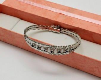 Classic bracelet Silver 925 precious sapphires SA312