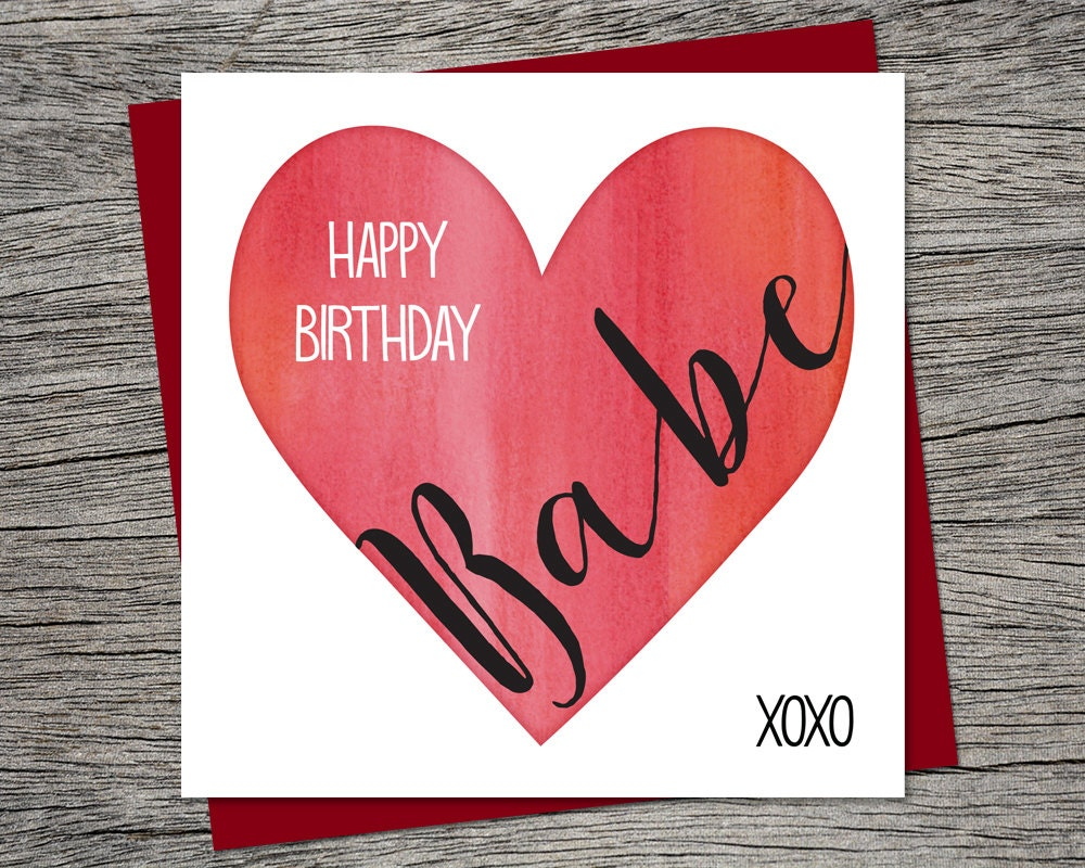 Birthday card happy birthday babe wife birthday husband zoom kristyandbryce Choice Image