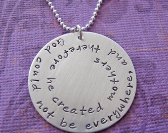 custom large swirl necklace - customize with family names, quote, etc.