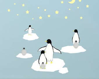Kids Wall Decals, Penguin Wall Stickers