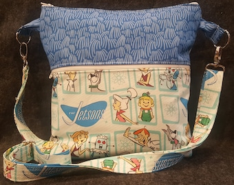 Handmade Crossbody Purse/Retro Cartoon/Shoulderbag/Hipster/Jetsons