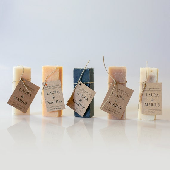 Personalized Soap Favors - 1 oz - Wedding Soap Favors   Shower Favors   Handmade Soap    Unique Favor Ideas   Guest Soaps   Hotel Soap Bars