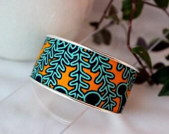 Wax wide Cuff Bracelet