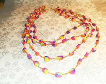 beautiful handmade, unique, stylish, original, colorful Necklace (multicolor)