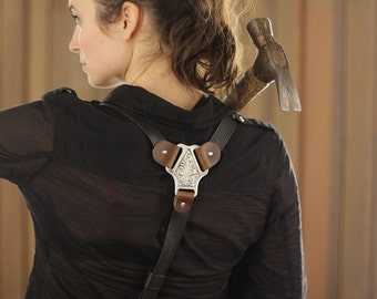 Classic Leather Suspenders - Black & Brown