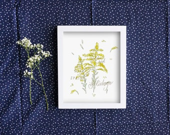 Flower Print - Golden Rod