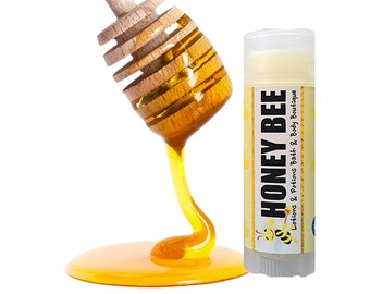 Honey Bee Lip Balm, Natural Lip Balm, Vegan, Chapstick, Lip Care, Lotions and Potions