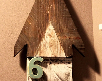 Rustic Arrow Growth Chart