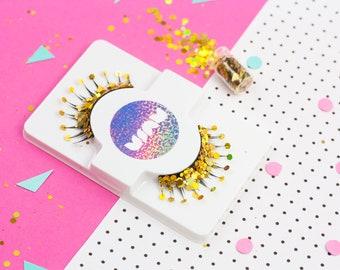 Glitter Eyelashes, Holographic Glitter, Egyptian Costume, Fancy Dress, False Eyelashes, Drag, Lashes, Festival, Gold Glitter, Cleopatra