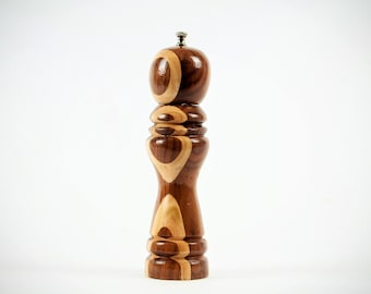 Wallnut and Maple Pepper Mill