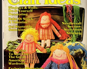 Decorating Craft Ideas -Vintage Magazine Jan/Feb 1981