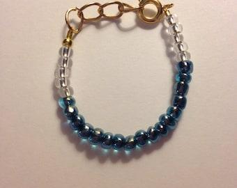 Midnight Blue Stackable Baby or Toddler Bracelet