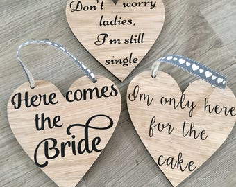 Bridal party signs / page boy / flower girl / wedding