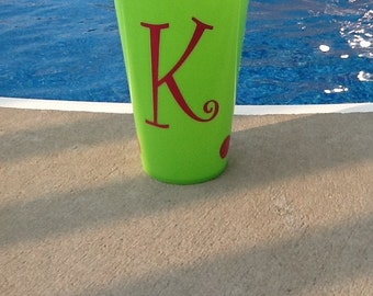 Personalized Monogrammed Plastic Cups/Tumblers